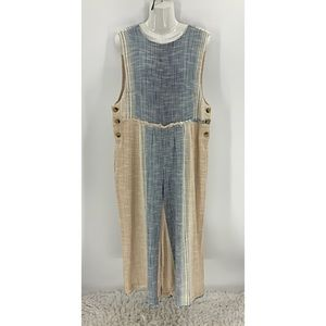 Free people oversized button side Jumpsuit
